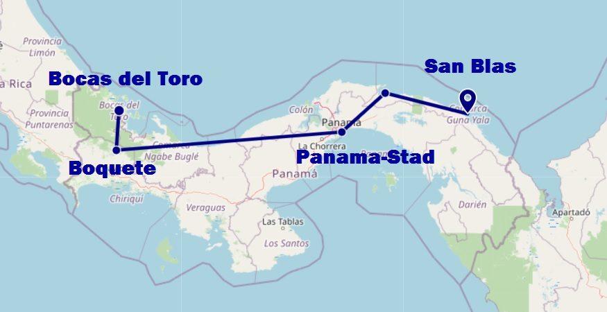 Onze backpack route door Panama