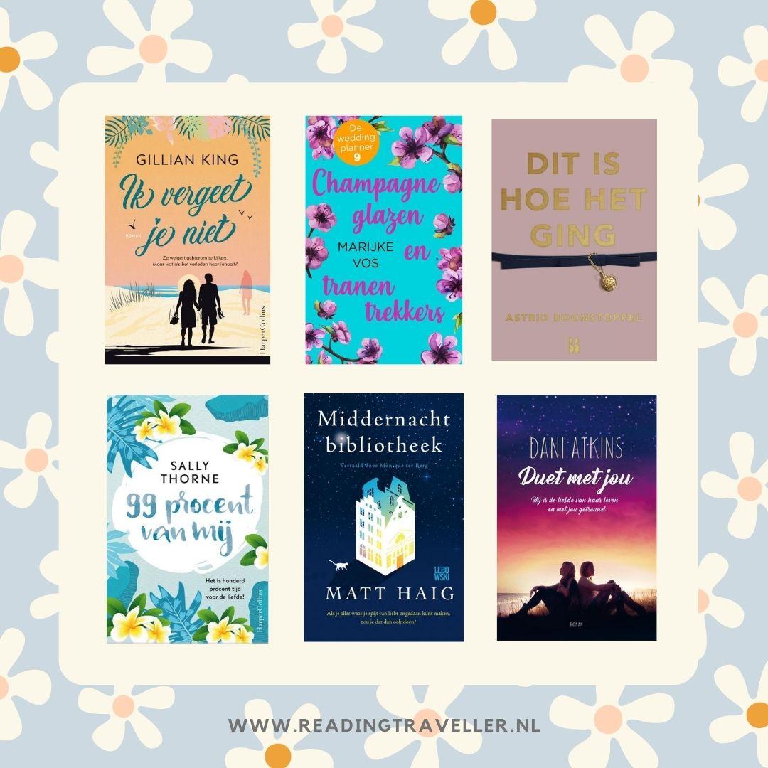 Deze 6 e-books las ik tijdens onze vakantie in Zwitserland